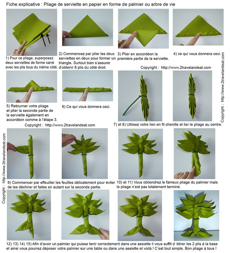 Pliage de serviettes de table en papier pliage de papier origami deocratio - Plier serviette de table ...
