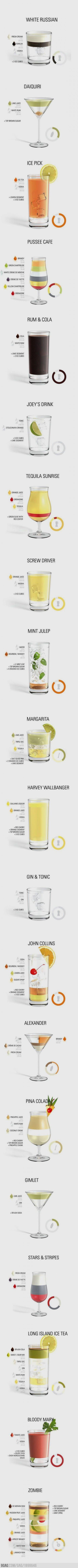Mixed Drinks many