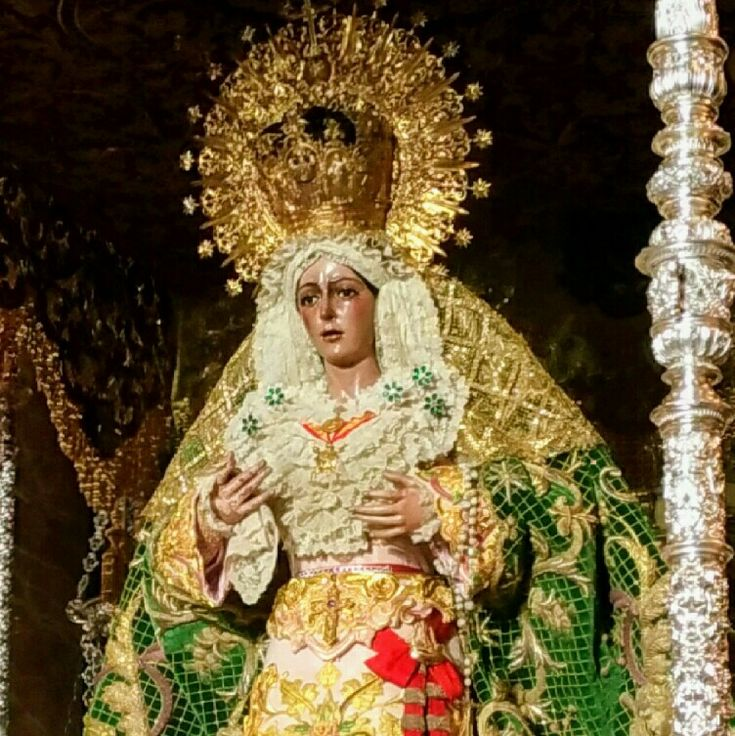 HERMANDAD DE LA MACARENA SEVILLE HOLY WEEK 2017 PREPARATIONS (3)  Founded in 1595 by at the now inexistent Convent of St. Basil, the Confraternity or Hermandad de Macarena makes its penitenti…