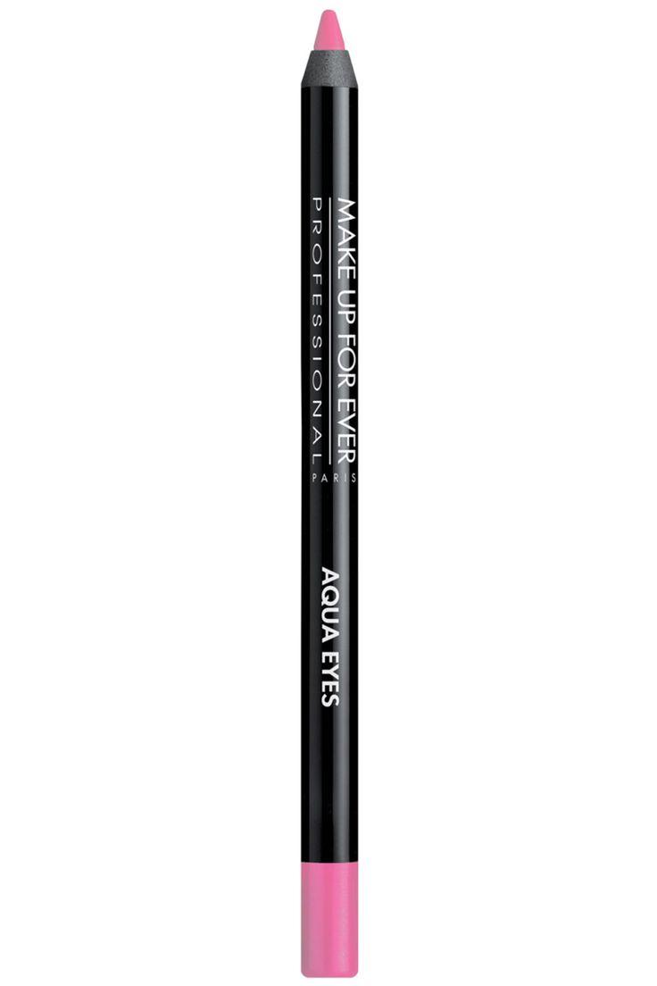 Make Up For Ever Aqua Eyes Waterproof Eyeliner Pencil in 13L Fuchsia Pink, $19; makeupforever.com   - ELLE.com