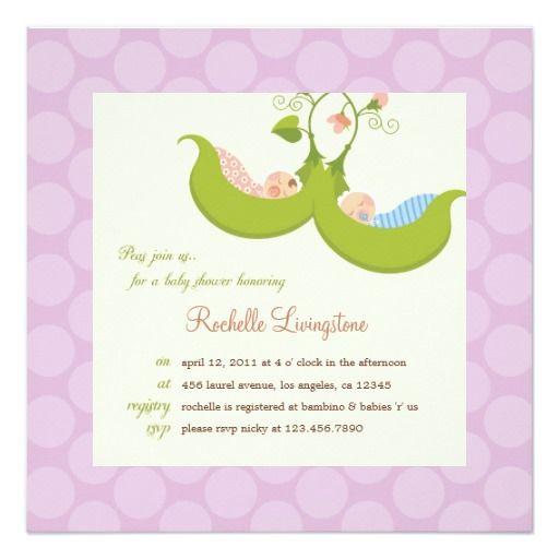 Peas In A Pod Twin Boy Girl Baby Shower Invitation ·  DoppelbabyduschenZwillingsjungenSüße ErbsenEinladungen Zur  BabypartyEinladungskartenBabyparty ...