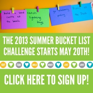 The Happy Family Movement's 2013 Summer Bucket List.  Sign up for a summer filled with great family fun ideas!