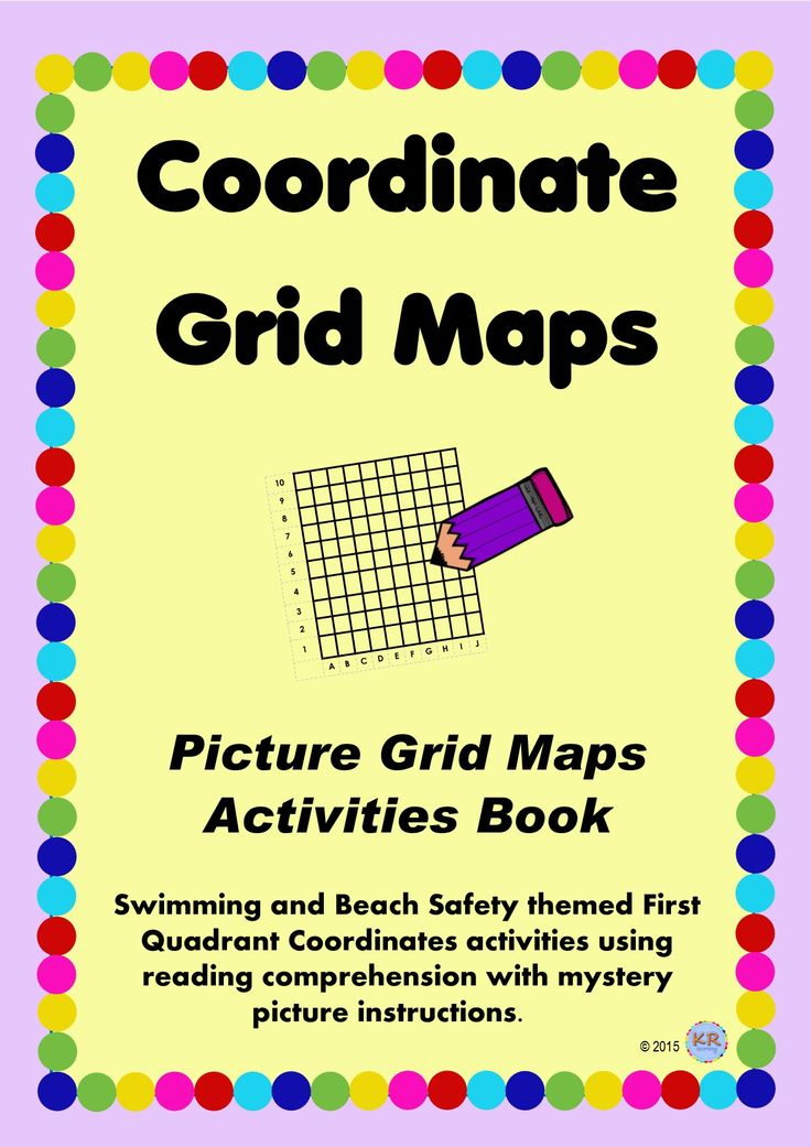 Coordinate Grid Maps to teach students about reading location and position of objects and creating their own object. Even mystery image picture instructions! Swimming themed activites!