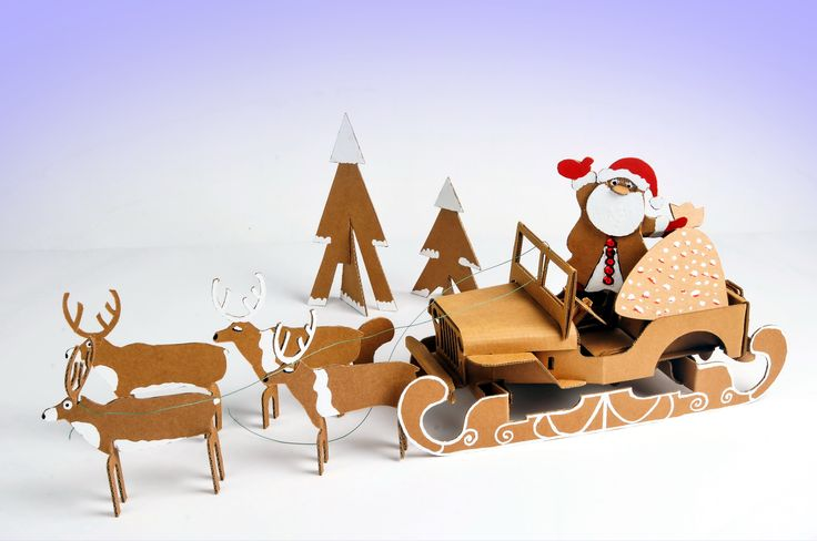 Santa's sleigh DIY