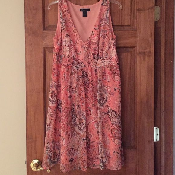 Inc multi color dress Inc dress worn as a maternity dress. Worn only once to wedding. Excellent used condition. INC International Concepts Dresses High Low