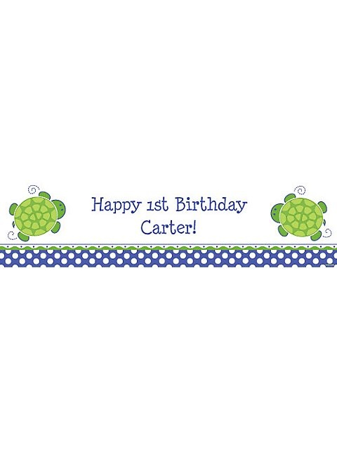 Turtle Party Personalized Banner