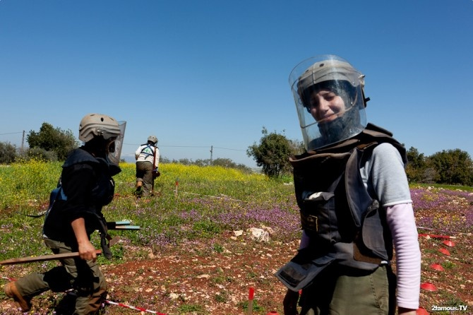 The all woman land mine clearing team