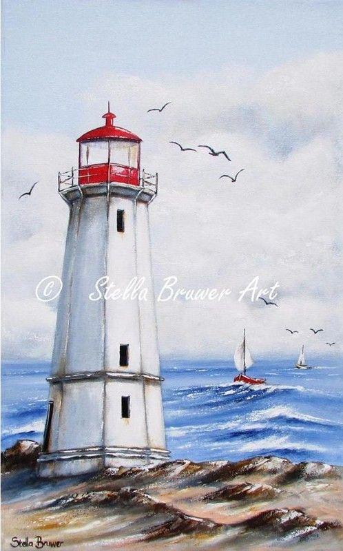 12 Beaux Tableaux De Stella Bruwer With Images Lighthouse Images, Photos, Reviews