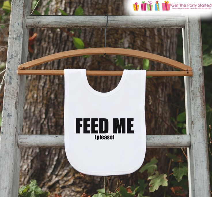 Feed Me Baby Bib - Funny Bib for Baby - Baby Dinner Bib - Celebration Bib - Baby Shower Gift Idea - New Baby Gift - Expecting Mom Gift