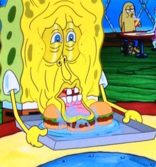 "When this face happened. | 36 Times ""Spongebob"" Made Absolutely No Sense At All"