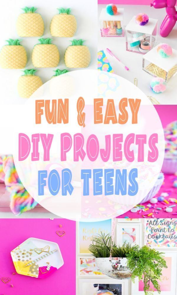 Awesome Diy Projects That Teens Will Love The Clever Side Diy Crafts For Kids Easy Diy Projects Cool Diy Projects