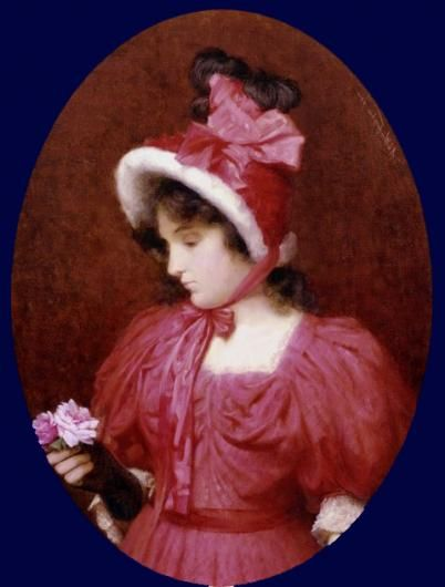 Lady in red - Alfred C Weatherstone