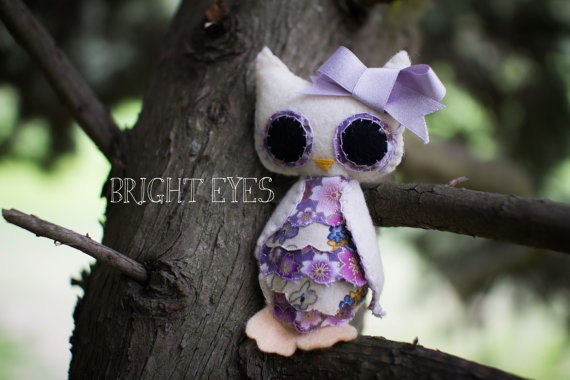 Little Miss Plush Owl by Brighteyesshop on Etsy