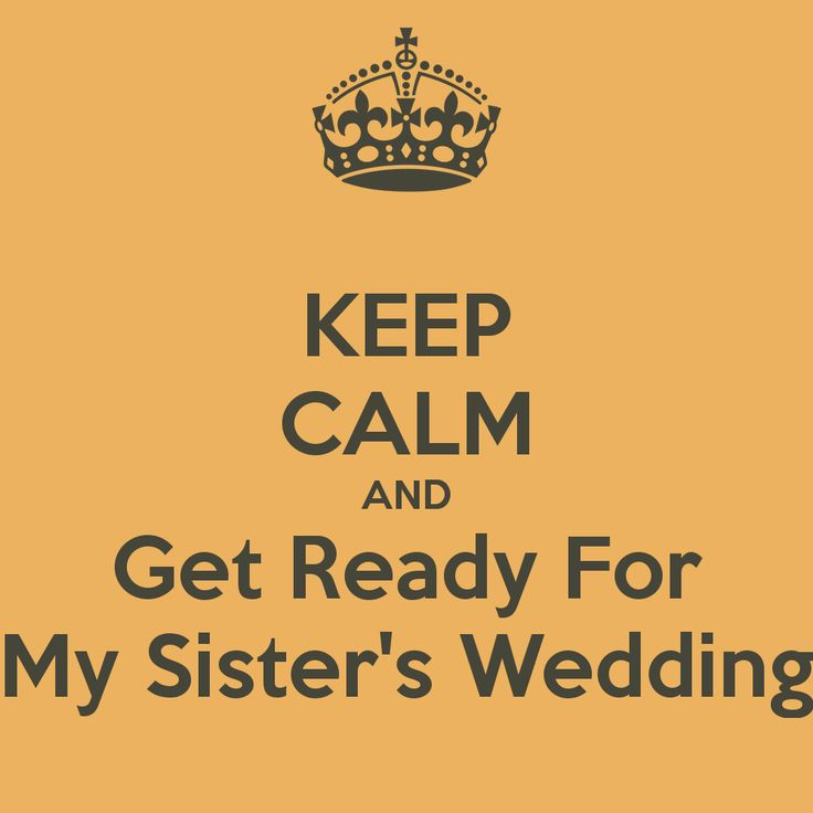 My Sisters Wedding: KEEP CALM AND Get Ready For My Sister's Wedding