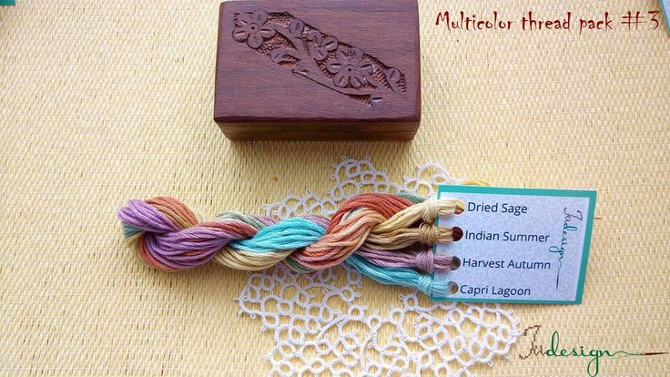 Hand painted matt cotton floss package #3 hand dyed thread for embroidery, cross stitch, punto cruz, point de croix, blackwork by xJudesign on Etsy