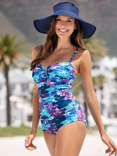 Mosaic Print Swimsuit