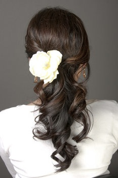 Wedding hair. Simple but pretty.