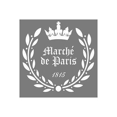 Ideal Details zu SHABBY CHIC VINTAGE STENCIL XL SCHABLONE M BEL K CHE ORNAMENT PARIS LE MARCHE A