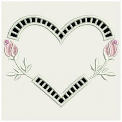 Heirloom Rose Cutwork 09(Sm) machine embroidery designs