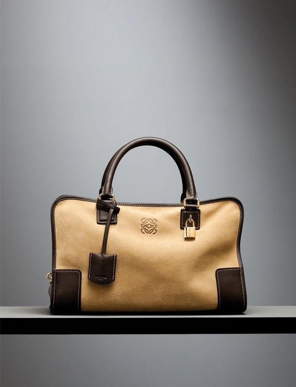 'Oro' Suede 'Amazona' Bag. Click on the image to get it at Loewe's Online Boutique.