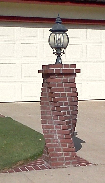 I love the spinning brick work. I've seen this done on chimneys as well.