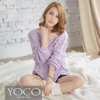 Tie-Back Open-Knit Top from #YesStyle <3 Tokyo Fashion YesStyle.com.au
