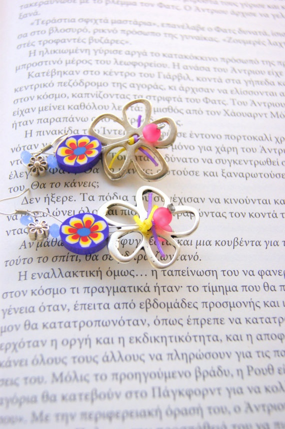 Spring   mood earrings by RenatasArt on Etsy, €12.00