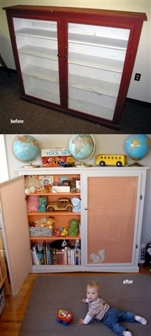 bookcase - before and after