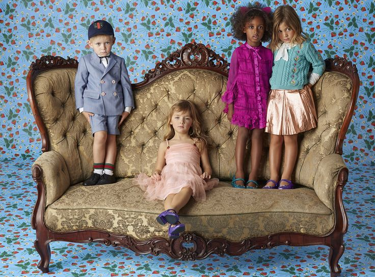 Looks from Gucci's Children's Cruise Collection.