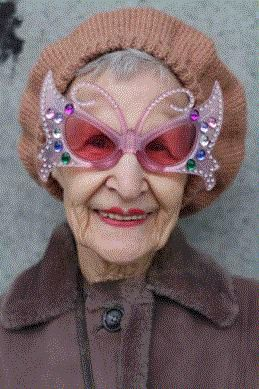 Age eighty, she has seventy pairs of sunglasses @Jamie Duffin - J this will be you