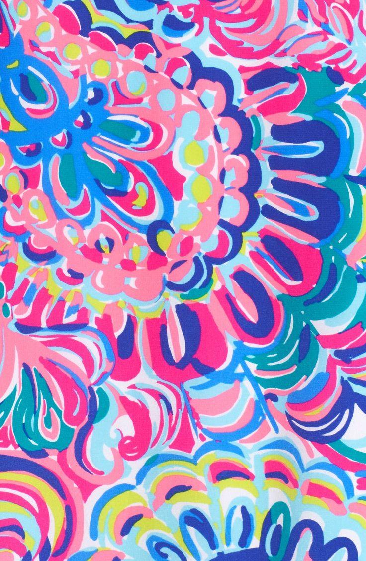 'Lela' Print Silk Slipdress