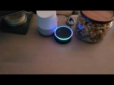"""Nie mehr allein: Google Home Assistent & Amazon Alexa unterhalten sich - https://apfeleimer.de/2016/11/nie-mehr-allein-google-home-assistent-amazon-alexa-unterhalten-sich - Solltet Ihr Euch einsam fühlen und im Besitz eines Google Assistent, Siri oder eines Alex Amazon Assis (Echo & Echo Dot) sein, dann könnt Ihr diese dazu bringen, sich in Dauerschleife zu unterhalten. Genau das hat YouTuber Adam gemacht und seine beiden Devices """"ins Gespräch gebr..."""