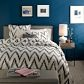 I LIKE THE WALL COLOR.Wall Colors, Pretty Wall, Charcoal Chevron, Chevron Beds, Duvet Covers, Organic Chevron, Chevron Duvet, Chevron Bedding, Design
