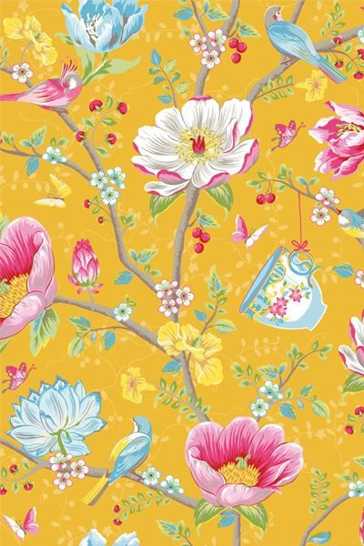 Show details for Chinese Garden wallpaper yellow