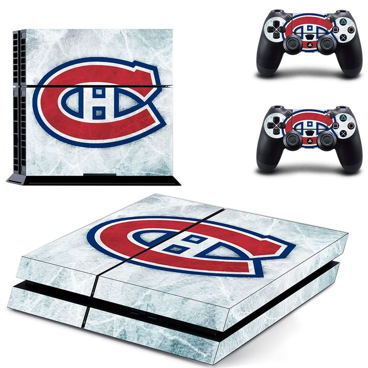 montreal canadiens ice hockey team ps4 skin decal for console and controllers