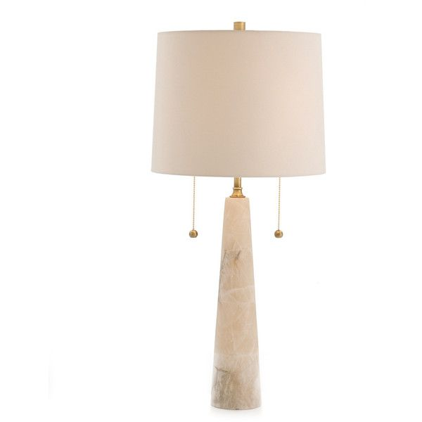 Arteriors Sidney Marble/Brass Table Lamp ($840) ❤ liked on Polyvore featuring home, lighting, table lamps, beaded table lamp, polished brass table lamps, colored lamps, alabaster lamps and colored lights
