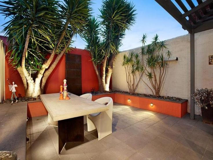 Landscaped, enclosed outdoor area ideas
