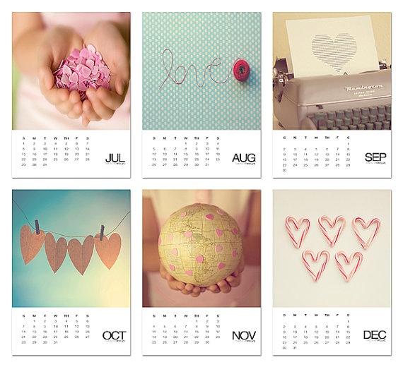 2012 LOVE photo calendar