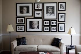 Header: Internet Inspirations: Wall Arrangements and Art- above couch?