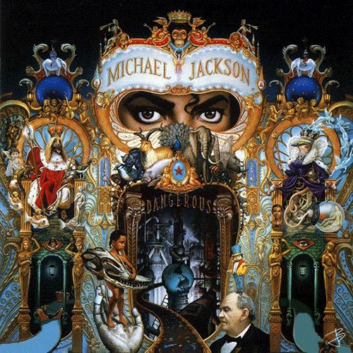 Juan Betancourt #MichaelJackson - Dangerous - 1991, animated album cover. .