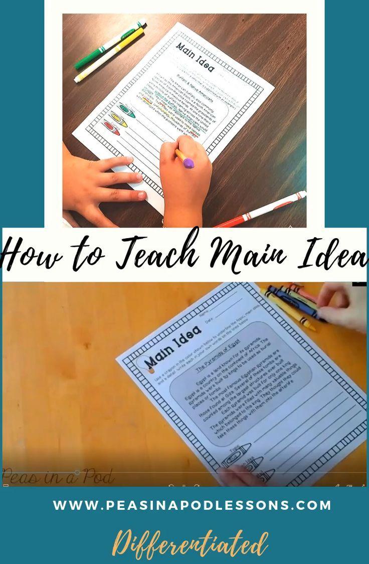 How To Teach Main Idea Peas In A Pod Lessons Teaching Main Idea Main Idea Worksheet Reading Workshop [ 1125 x 736 Pixel ]