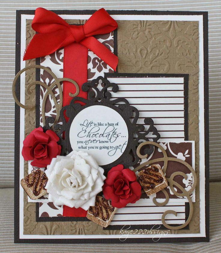 Chocolate Card Christmas Pinterest
