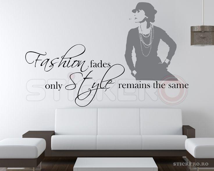 Fashion fades - sticker decorativ mesaj