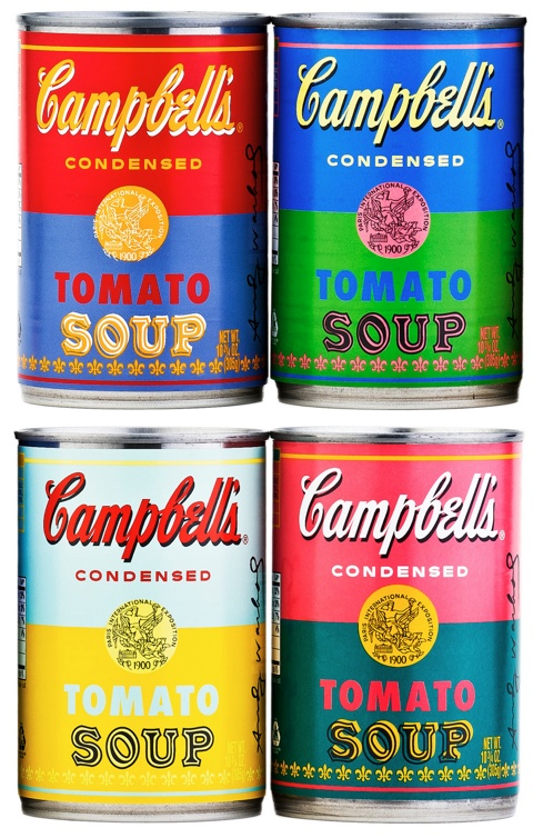 CAMPBELL'S SOUP Special Editions - Tribute to Andy Warhol 2012