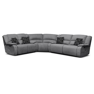 Destin Gray Ii Upholstery 3 Pc Power Reclining Sectional Value City Furniture 1