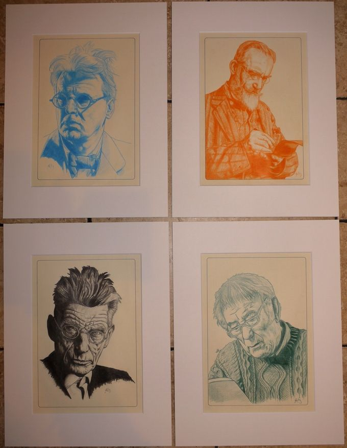 "The Four Portraits in 16"" x 12"" Mounts"
