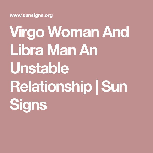 Dating virgo man