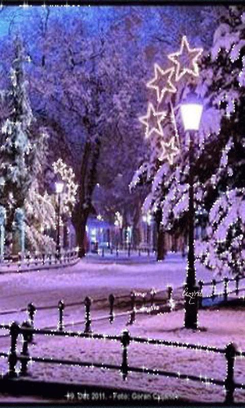 Download Animated 480x800 «Зимний пейзаж» Cell Phone Wallpaper. Category: Nature