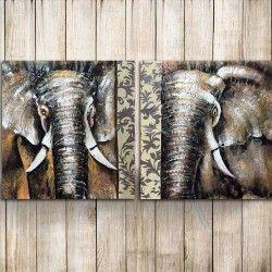 Ebony & Ivory! Nu har du chansen att slå till på en stor elefant canvastavla som består av två delar. Den totala längden på 200 cm gör det möjligt att verkligen snygga till hemmet och ge det en exklusiv look! Det bästa av allt? Tavlan är handmålad!  Länk till produkt: http://www.feelhome.se/produkt/ebony-ivory/  #Homedecoration #Canvas #olipainting #art #interior #design #Painting #handpainted  #interiordesign #canvastavla #canvastavlor #animal #elephant #elefant #natur #safari