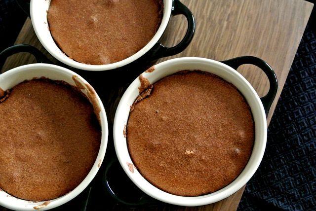 Gebakken chocolademousse